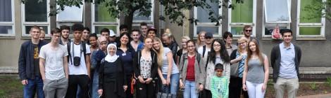 Schülerbesuch in einer Dortmunder Flüchtlingsunterkunft (22.06.2016)
