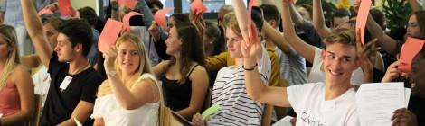 Schüler*innen simulieren das Europäische Parlament in Frechen mit der JEF Köln (05.07.2017)