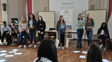 """Schülerworkshop """"Der Weg nach Europa"""" mit Merle Goßing (20.06.2016)"""